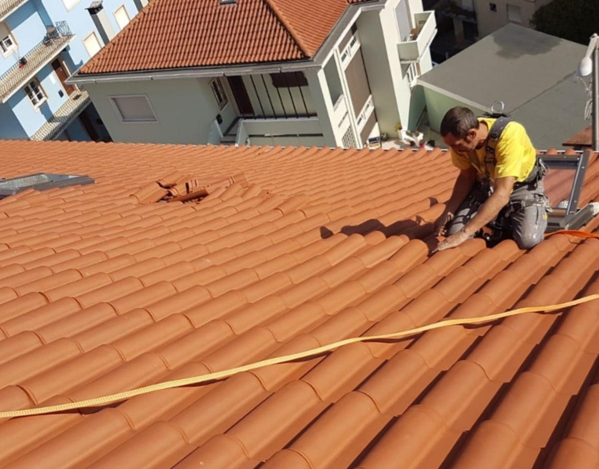 Obras no telhado